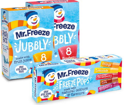 Selection of Mr Freeze products